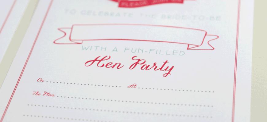 Hen Party Invites