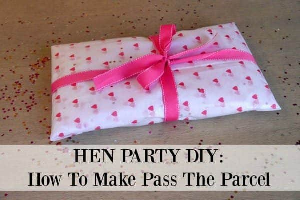 Learn how to make hen party pass the parcel. A great hen do game!