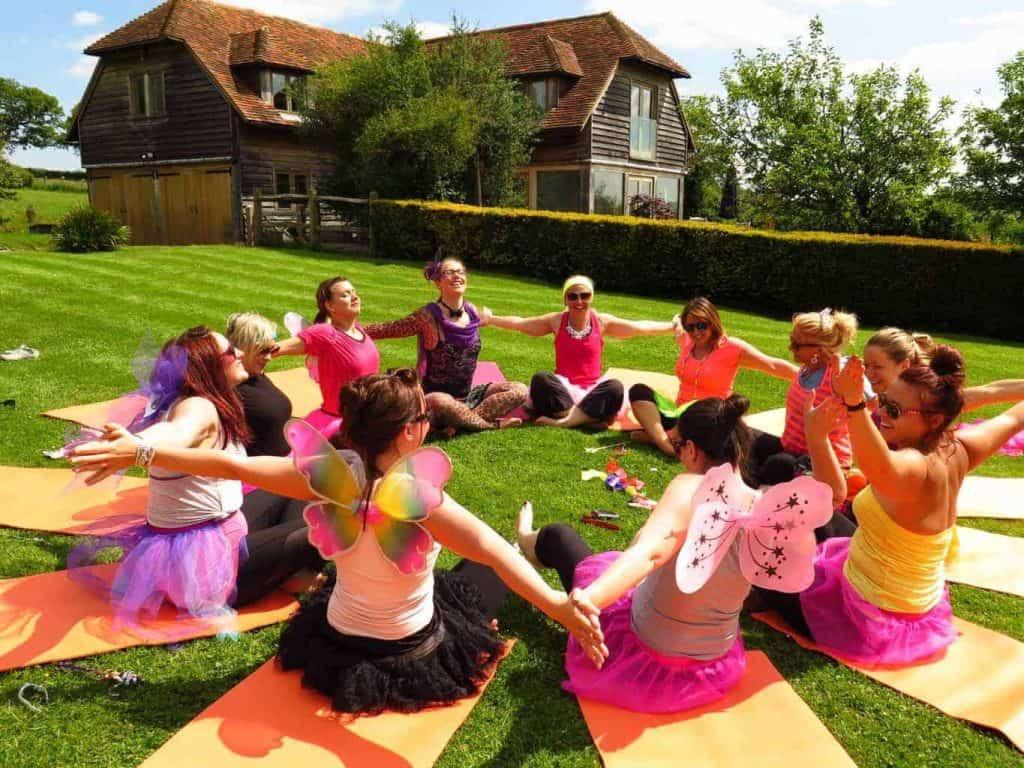 yoga hen party sussex
