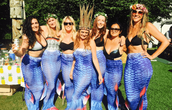 glamping hen party group in Cornwall