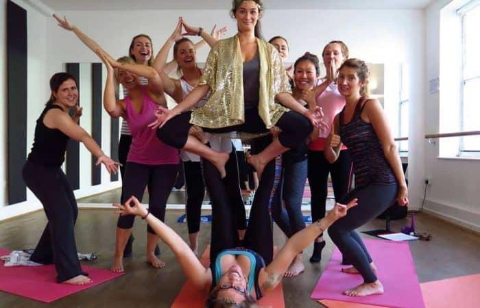 yoga hen party in Brighton