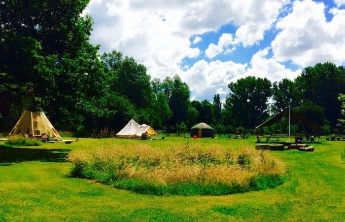 Hen party glamping site in Essex