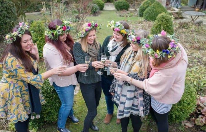 flower crown hen party in Yorkshire