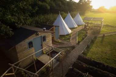 glamping site yorkshire